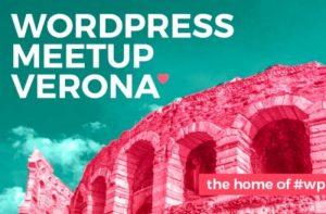 La foto mostra il logo del meetup di Verona
