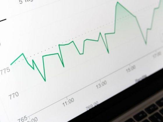 monitor con grafico verde