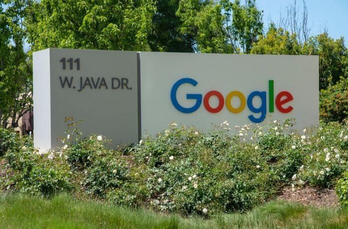 Google logo at Mountain View