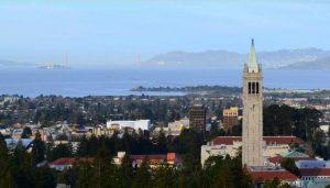 Berkeley University and Sather Tower